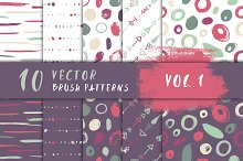 10 Vector Brush Patterns Vol. 1