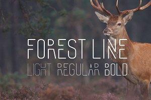 Forest Line Font Condensed
