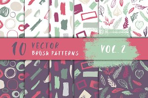10 Vector Brush Patterns Vol. 2