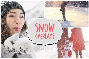 60 Falling Snow Overlays