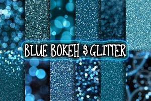 Blue Glitter & Bokeh Backgrounds