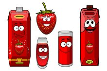 Strawberry juice bright red packs an