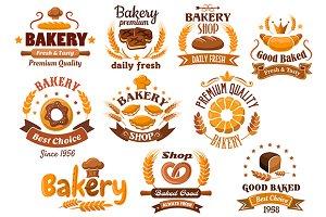 Bakery shop emblem or signboard