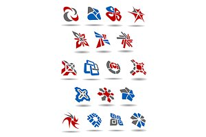 Geometric abstract icons and emblems