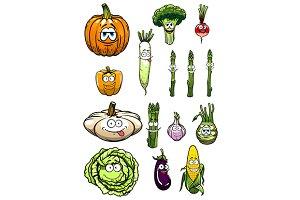 Colorful happy garden vegetables car