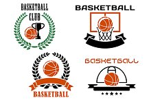 Basketball club emblems and symbols