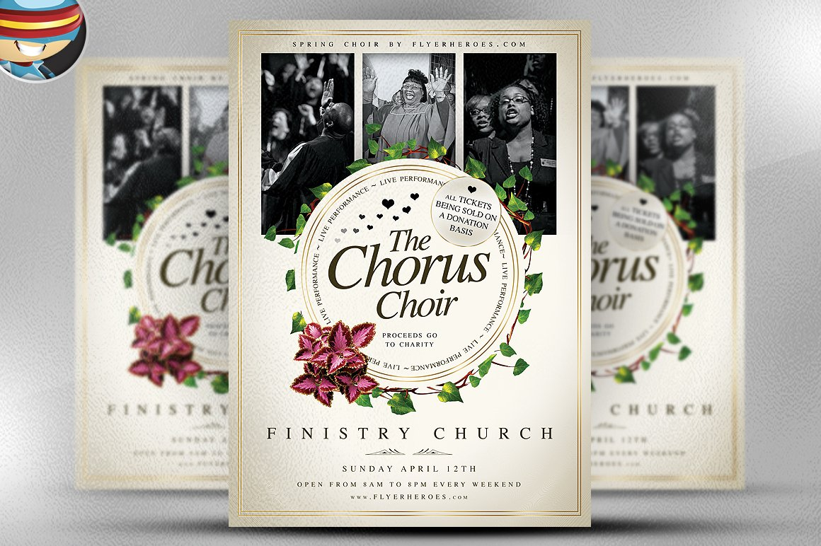 church flyer template photos graphics fonts themes templates chorus choir psd flyer template