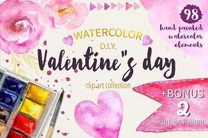 Watercolor Valentine Collection