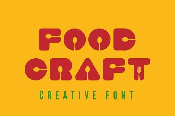 Food craft font fonts on creative market for Cuisine font
