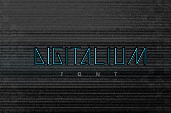 Digitalium Condensed Future Font