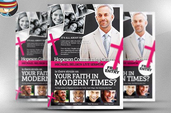 Modern Church Flyer Template Flyer Templates on Creative Market – Religious Flyer Templates