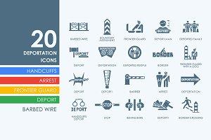 20 Deportation icons