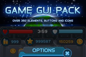 Space Game GUI Pack