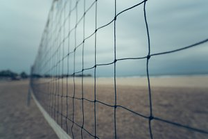 net for volleyball on the beach
