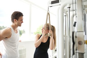 Man and woman in gym