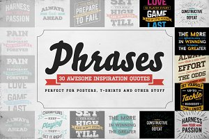 Awesome 30 Vector Phrases and Quotes