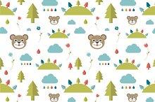 Kids wall paper pattern.