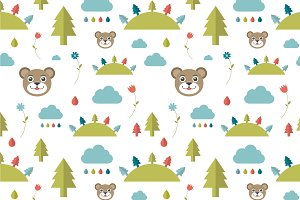 Kids wall paper pattern.