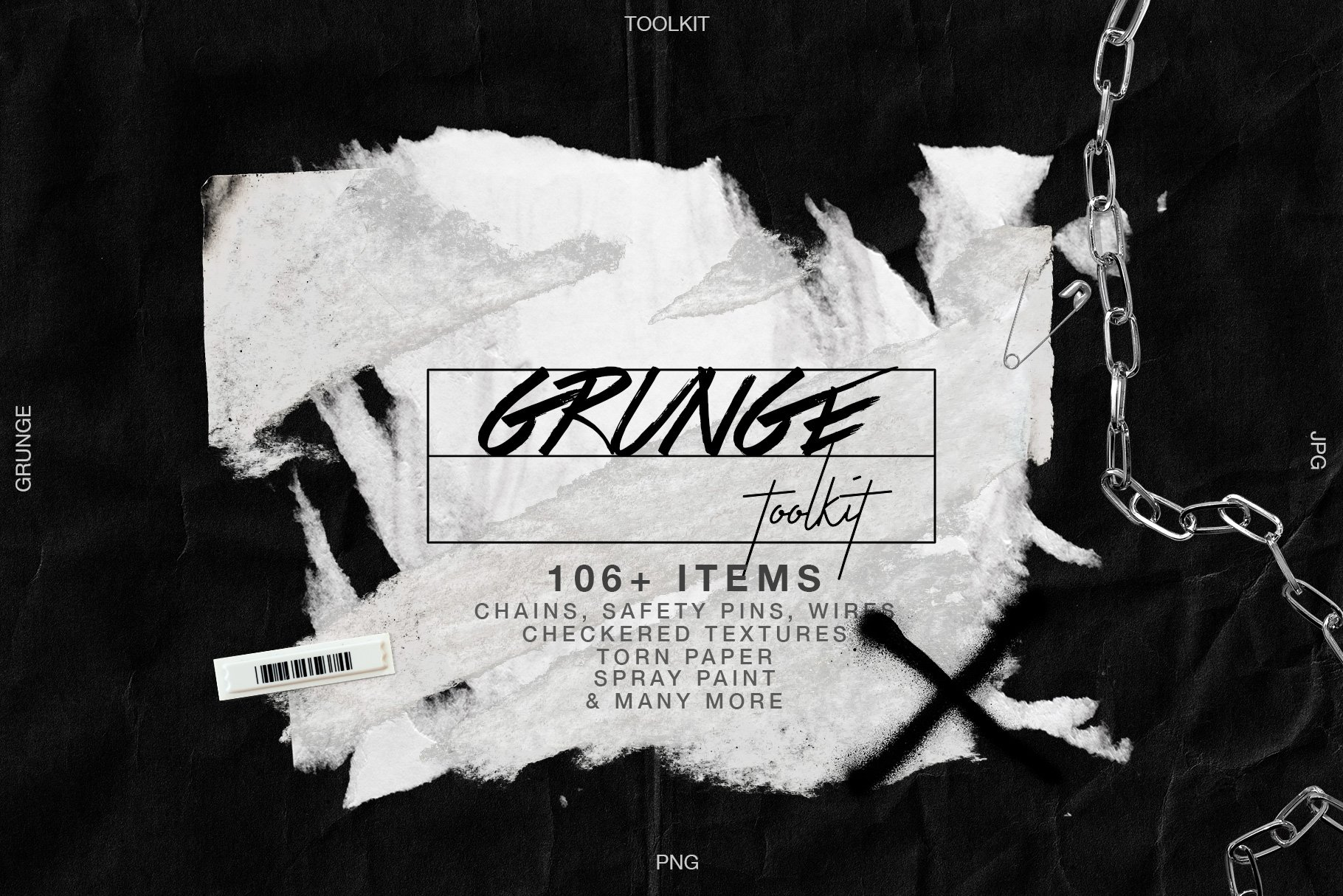 Grunge Artistic Toolkit Torn Paper Pre Designed Photoshop Graphics Creative Market