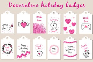 Decorative holiday badges