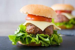Delicious mini burger