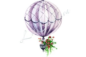 hot air balloon, background for invi