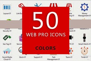 50 Web Pro Icons (Colors)