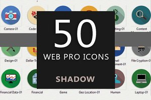 50 Web Pro Icons (Shadow)