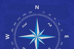 Compass on the old retro