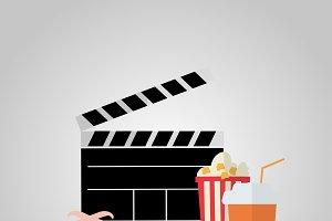 Illustration on the theme of cinema