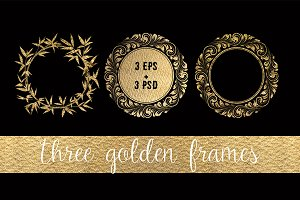 3 Magic Golden Frames