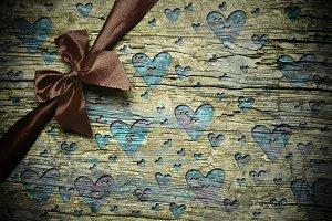 Romantic rustic background