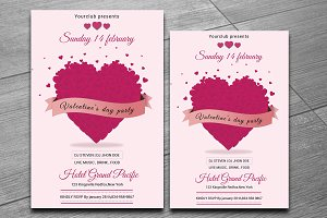 Valentines Day Party Flyer-V174