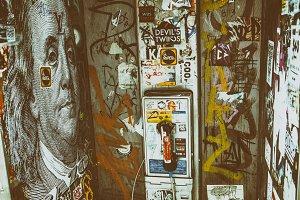 Phone Booth Graffiti, NYC