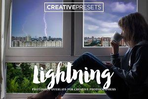 25 Realistic Lightning Overlays