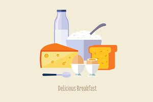 French Breakfast Vector