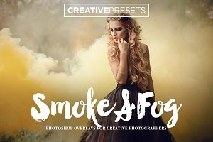 150 Smoke+Fog+Color Smoke Overlays