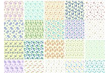 67 Watercolor Flowers Patterns pack