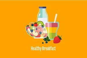 Healthy Breakfast fruit salad