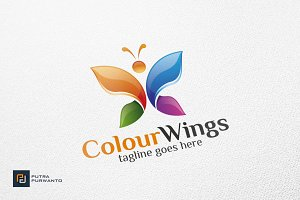 Colour Wings / Butterfly - Logo