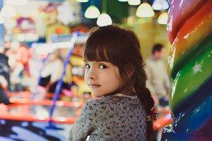 Girl on Horse Carousel