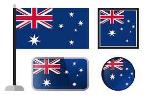 Australian flags icons