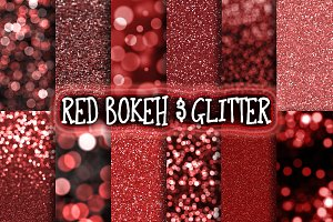 Red Bokeh & Glitter Backgrounds