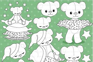 Digital Stamps Teddy Bear AMB-984