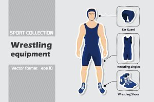 Set of wrestling equipment