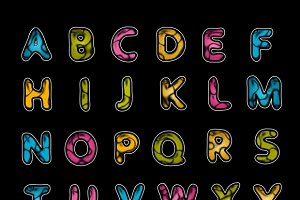 Leather alphabet
