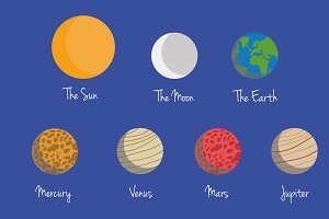 Planets of the Solar System Vector