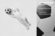 3D Small People - Goalkeeper