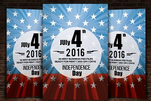 4th July Memory Day Flyer Template