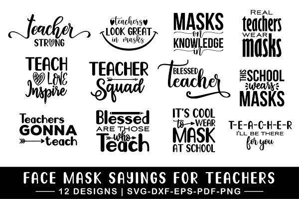 Face Mask Svg Bundle Pre Designed Illustrator Graphics Creative Market